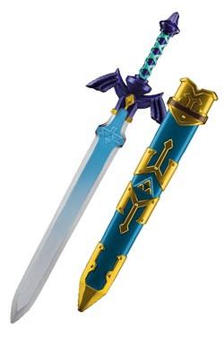 Zum Serientitel ´Skyward Sword´ aus der mega erfolgreichen ´Legend of Zelda´ Videospielreihe kommt diese offiziell lizenzierte Nachbildung des Masterschwerts von Link mit passender Schwertscheide, gefertigt aus Kunststoff. Das Schwert ist mit Griff insges