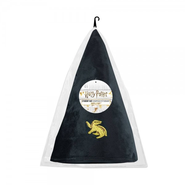 - Offiziell lizenzierter Harry Potter Zaubererhut \n- Kopfumfang: 58 cm \n- ca. 32 cm lang\n- 100% Samt
