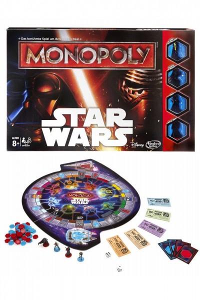 Erleben Sie Monopoly in einer neuen Dimension!In dieser galaktischen Monopoly Star Wars Edition müssen sich die Spieler für eine Seite der Macht entscheiden. Sie treten an der Seite von Luke Skywalker für die Rebellen an oder schlagen sich mit Darth Vader