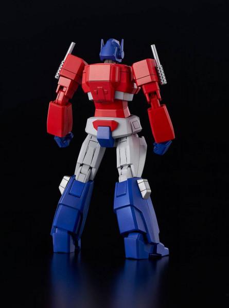 """Aus Flame Toys """"Furai Model""""-Reihe kommt dieses coole """"Transformers"""" Model Kit von Optimus Prime.Die voll bewegliche Figur ist zusammengebaut ca. 16 cm groß und wird mit weiterem Zubehör und Austauschteilen in einer bedruckten Box geliefert."""