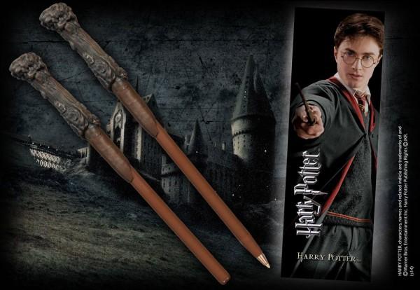 Originelle Nachbildung des Zauberstabs von Harry Potter als schreibfähiger Stift. Die Lieferung erfolgt mit einem Lesezeichen von Harry Potter.