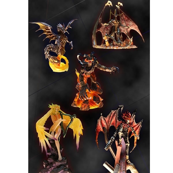 Final Fantasy Creatures Kai Vol. 2 Minifiguren Box Set Beschädigte OVP