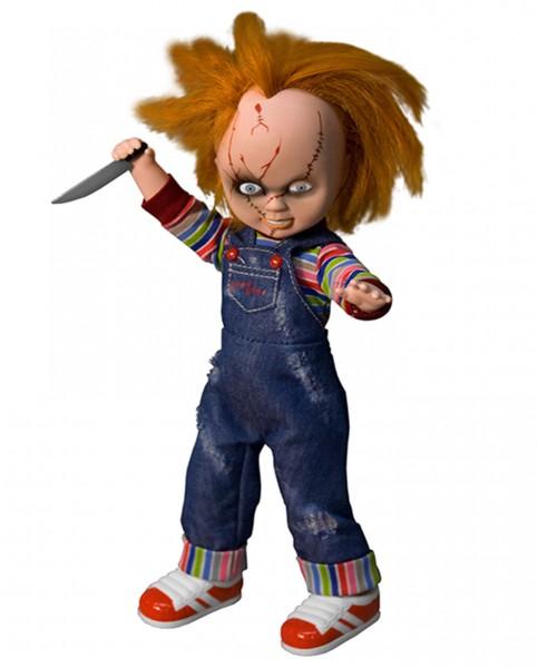 Aus Mezcos beliebter ´Living Dead Dolls´ Serie kommt diese großartige Puppe von Chucky aus der gleichnamigen Horrorfilm-Reihe. Sie ist ca. 25 cm groß und trägt echte Stoffkleidung.