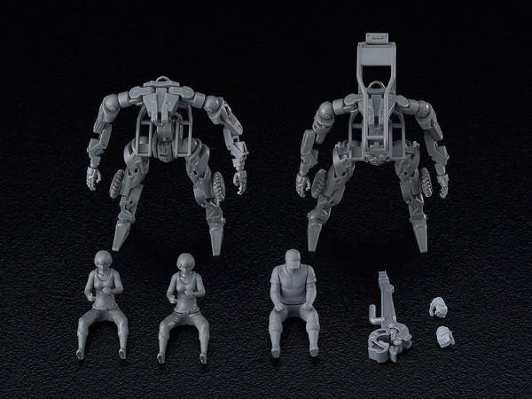 """Aus Good Smiles hauseigener Mecha-Reihe """"Moderoid"""" kommt dieses Set mit 2 coolen Plastic Model Kits aus der Youtube-Serie """"OBSOLETE"""".<br /><br />Zusammengebaut ist jede Figur ca. 9 cm groß. Jede verfügt über 28 Artikulationspunkte und wird mit weiterem Zu"""