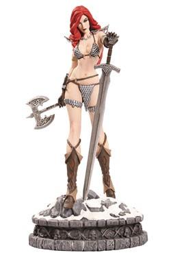 Zum Dynamite Entertainment Comic 'Red Sonja' kommt diese detailreiche Statue der Titelheldin aus hochwertigem Resin. Sie ist ca. 29 cm groß. Limitiert auf nur 99 Stück!<b> Wichtiger Hinweis:</b> Aufgrund der grossen Nachfrage und der kleinen Auflage diese