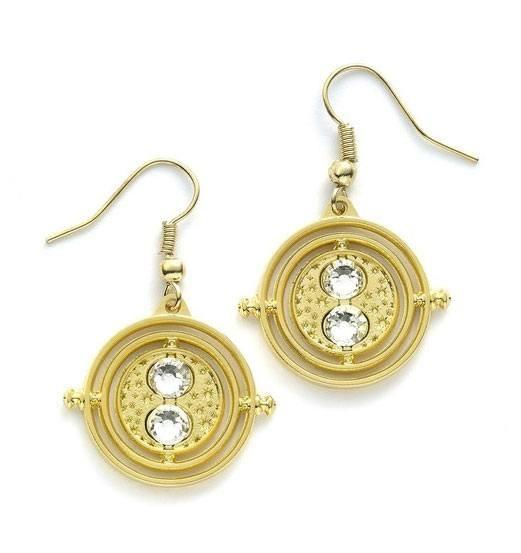 Zu Harry Potter kommen diese schönen Ohrringe aus vergoldetem Metall. Sie sind auf einer Blisterkarte verpackt. Eine Bereicherung für jede Abendgarderobe! Der Zeitumkehrer dreht sich NICHT bei diesem Modell.\n\nGröße: 20 mm